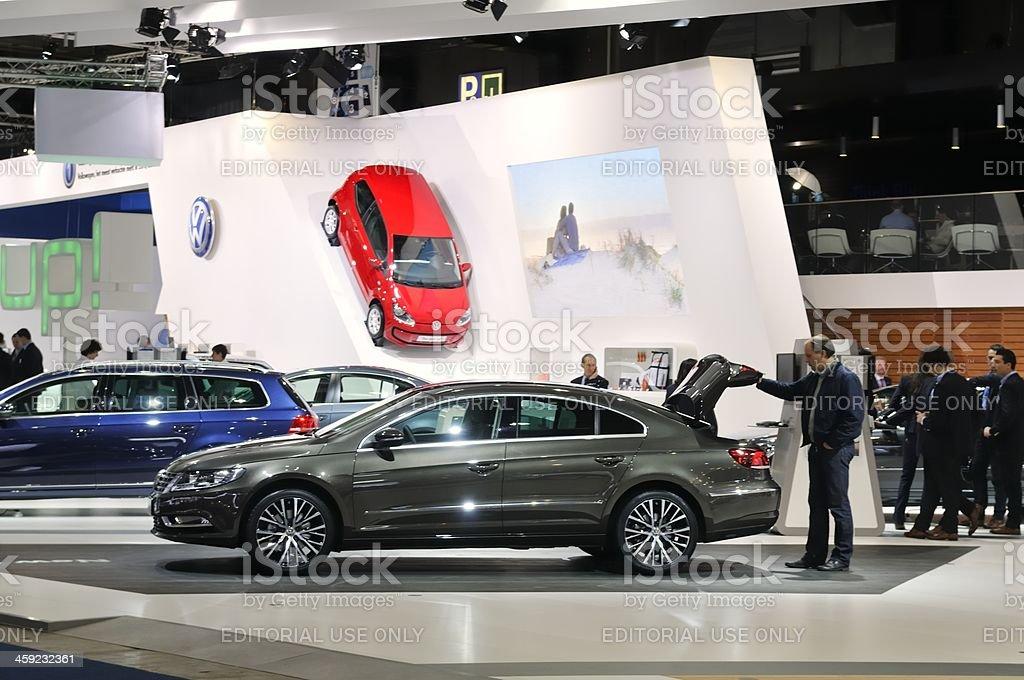 Volkswagen stand stock photo