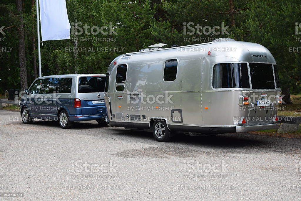 volkswagen t6 multivan with caravan stock photo more. Black Bedroom Furniture Sets. Home Design Ideas