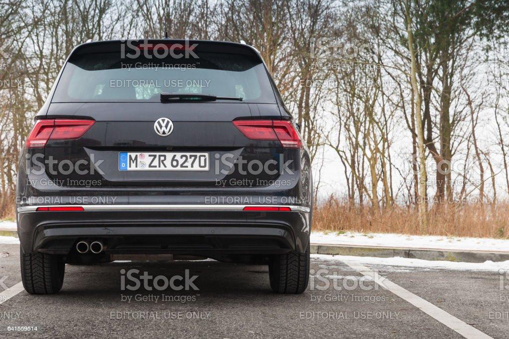 Volkswagen Tiguan, 4x4 R-Line, back side stock photo