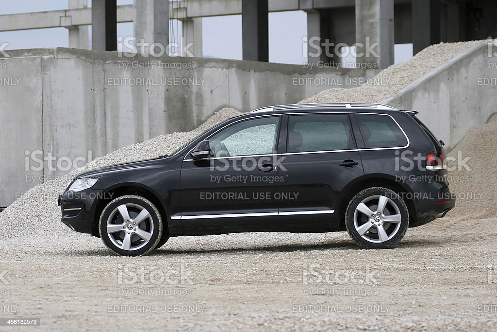 Volkswagen Touareg premium SUV stock photo