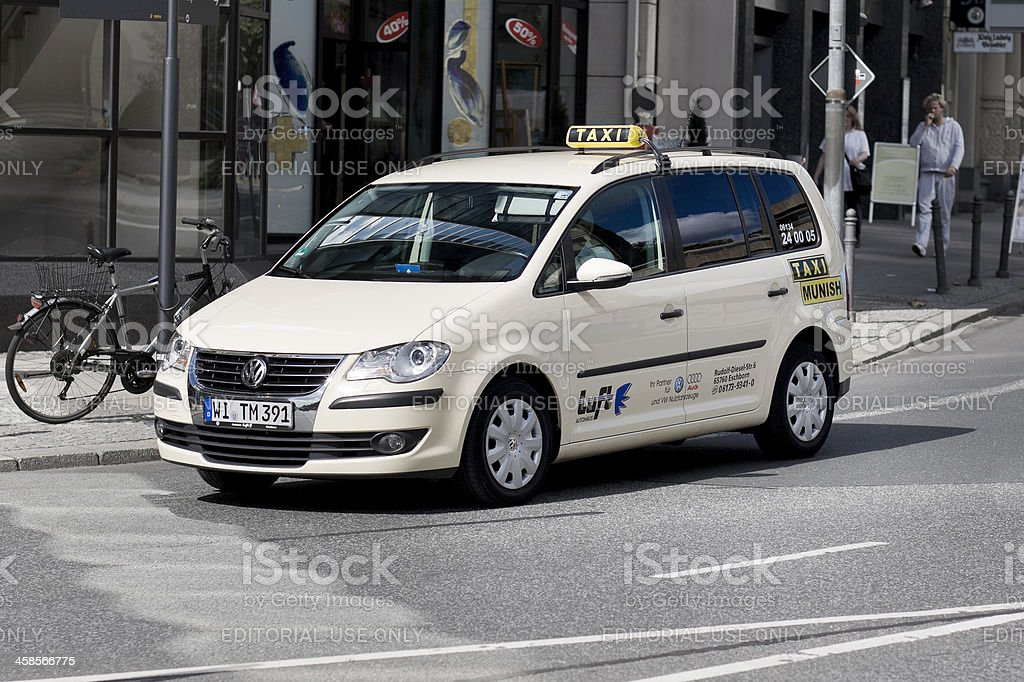 Volkswagen Touran Taxi royalty-free stock photo