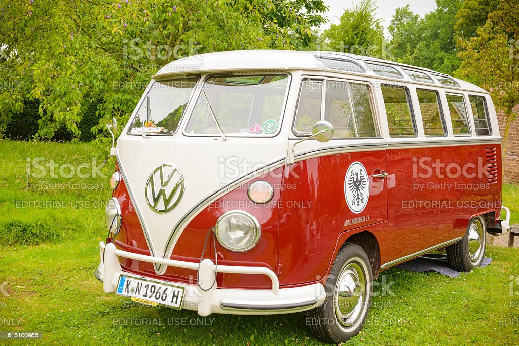 Volkswagen Transporter T1 classic panel van stock photo