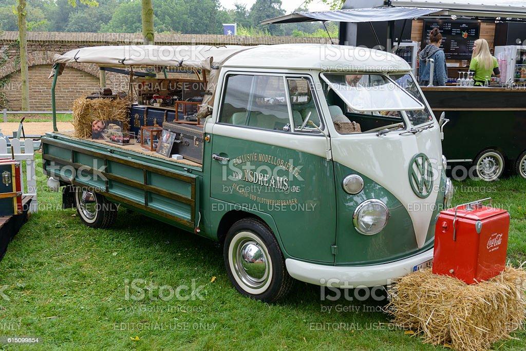 Volkswagen Transporter T1 flatbed classic van stock photo