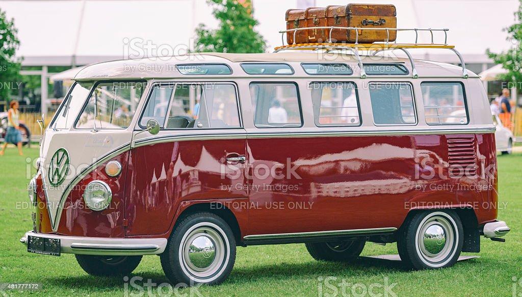 Volkswagen Transporter T1 mini van split screen stock photo