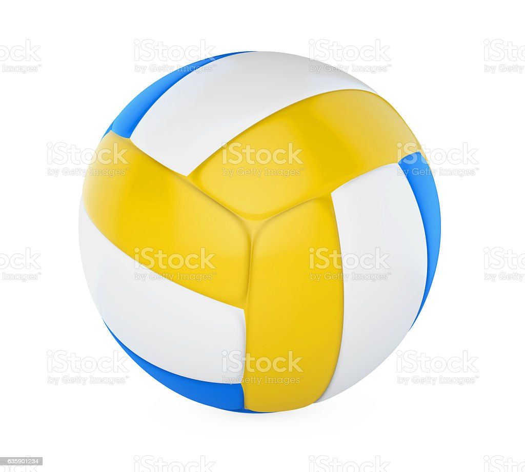Volley Ball Isolated stock photo