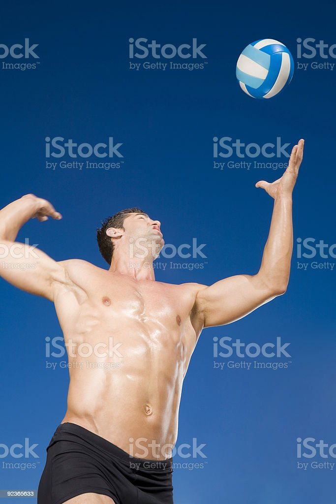Volley man royalty-free stock photo