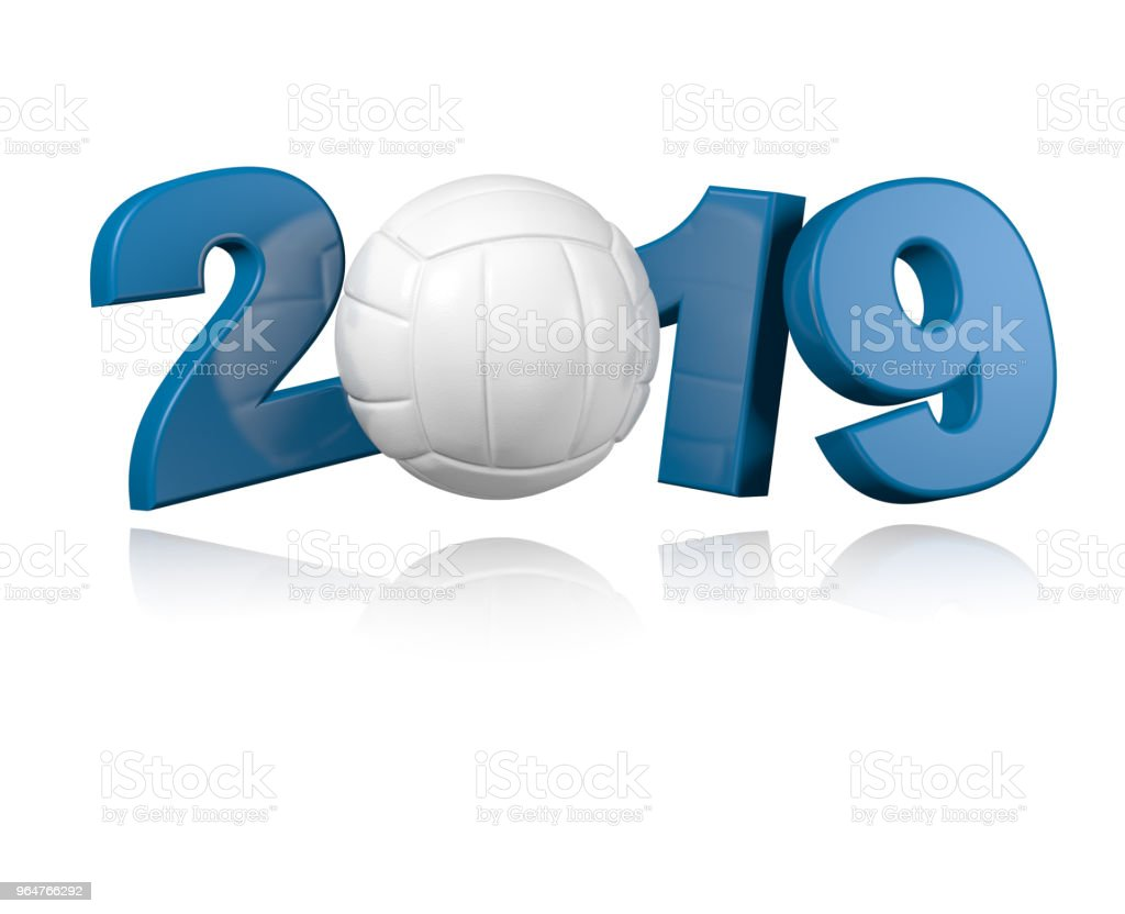 Volleyball 2019 Design royalty-free stock photo