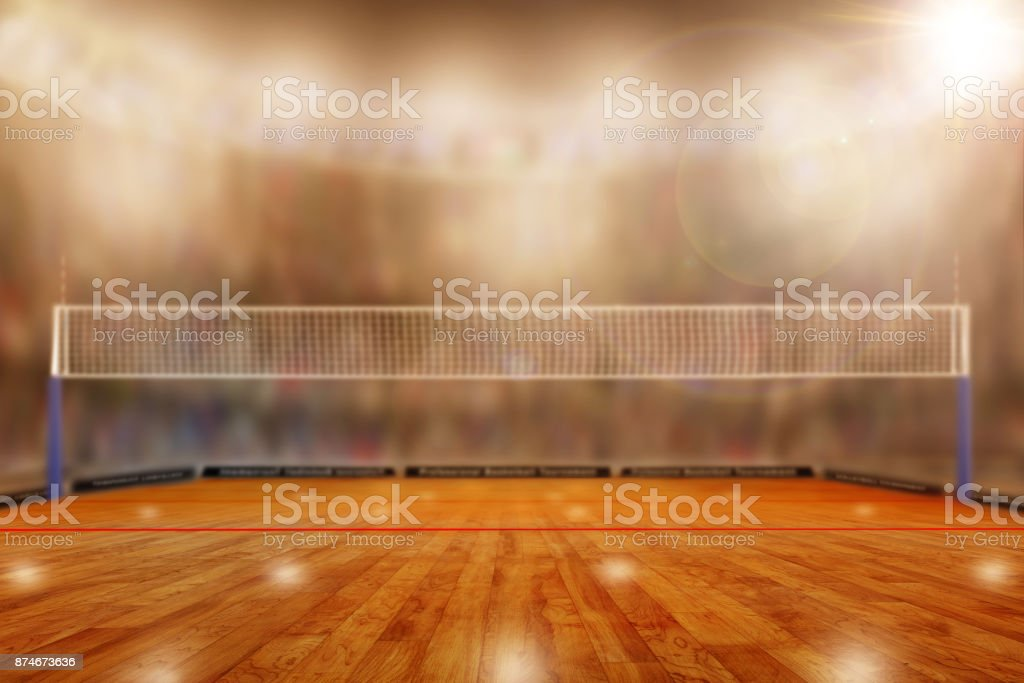 Volleyball Arena With Copy Space stock photo