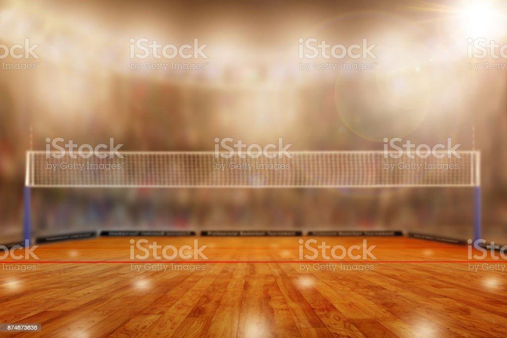 Arène de volley-ball avec espace copie - Photo