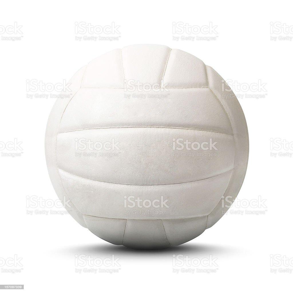 Volley-Ball isolé sur fond blanc, Tracé de détourage - Photo
