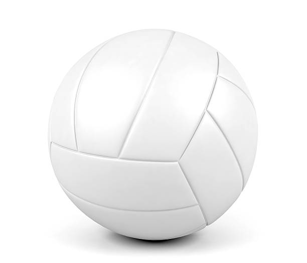 volleyball ball isolated on white background - volleyball stock photos and pictures