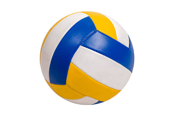 volleyball ball isolated on white background - volley ball photos et images de collection