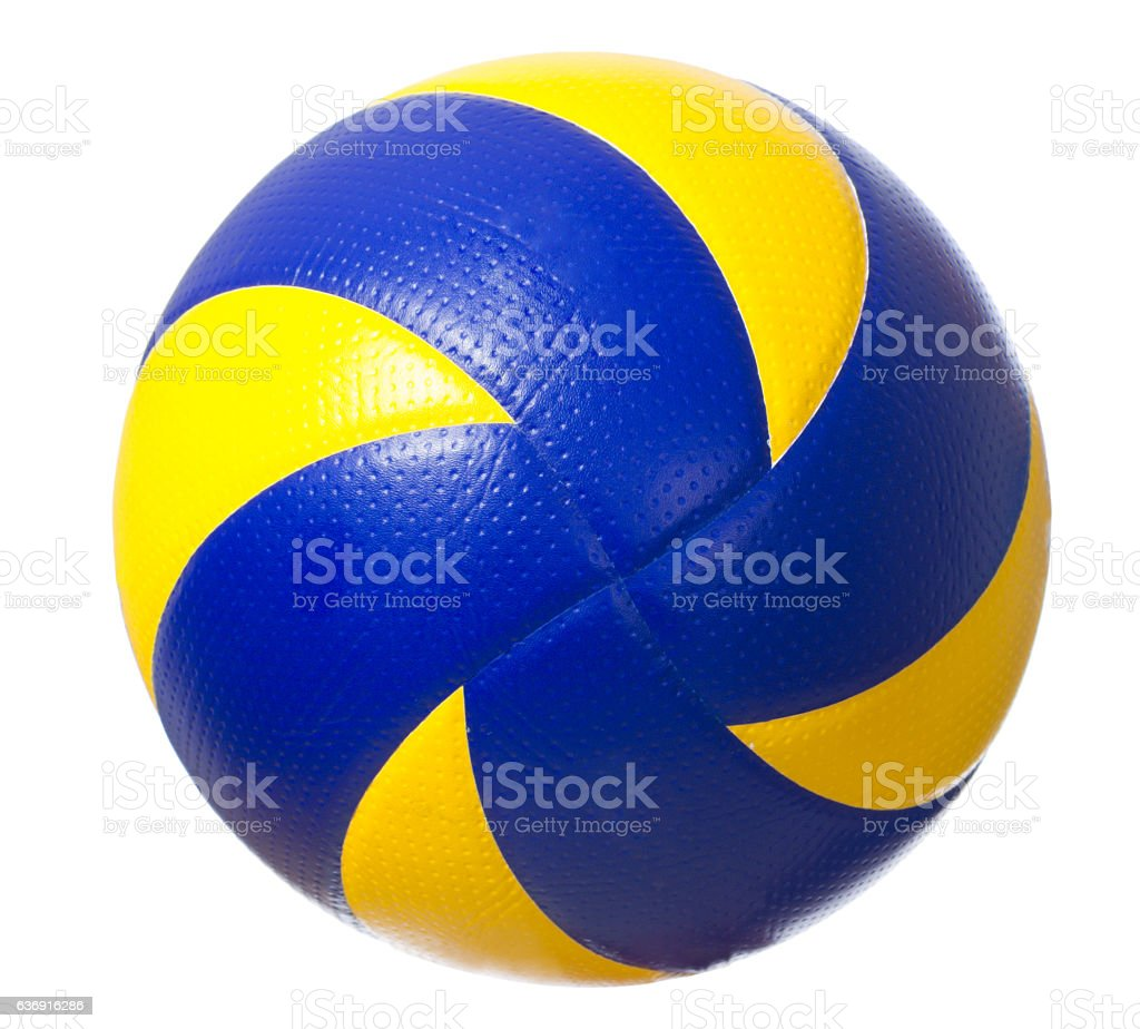 Volleyball ball isolated stock photo