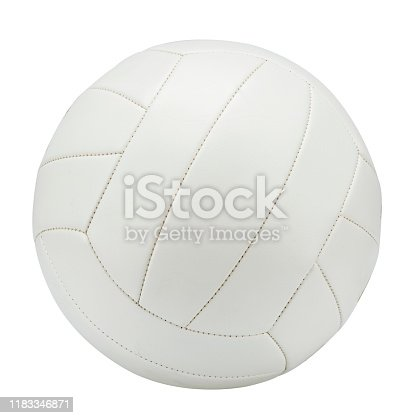 volleyball ball on white ground. isolated with clipping path