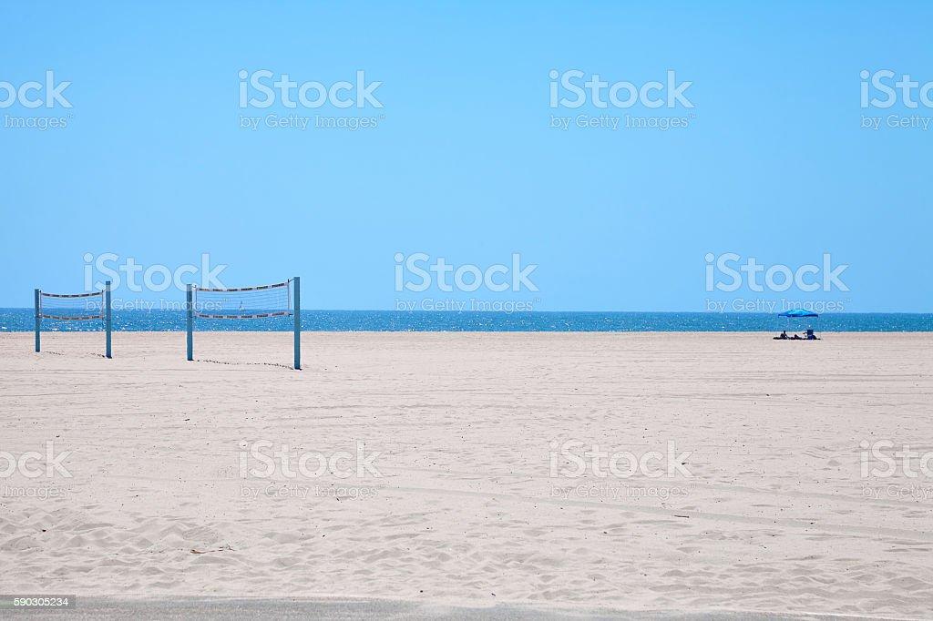 Volleyball courts on Venice Beach ロイヤリティフリーストックフォト
