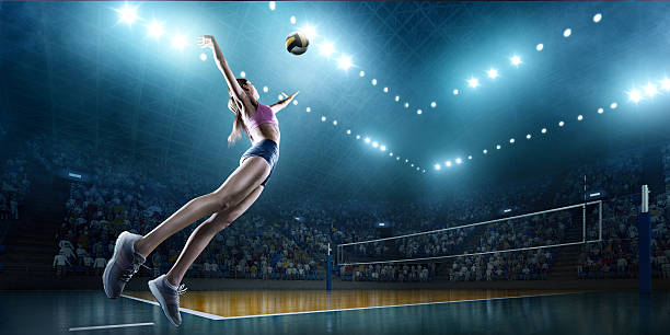 Volleyball: Female player in action – Foto