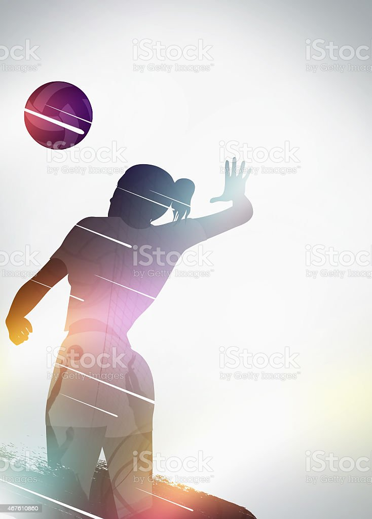 Volleyball flat design background stock photo