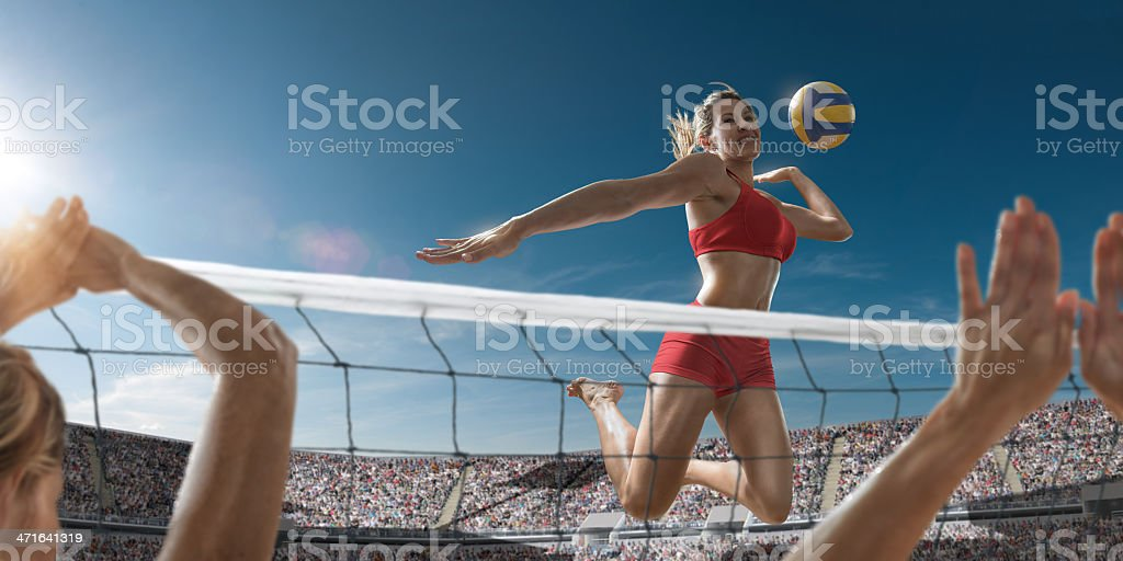 Volley-ball Girl sur le Score - Photo