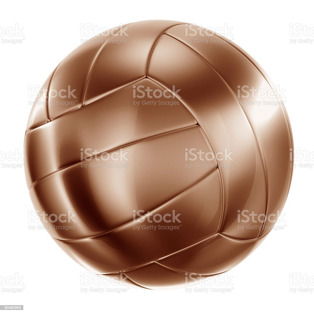 Volleyball in bronze royalty-free stock photo