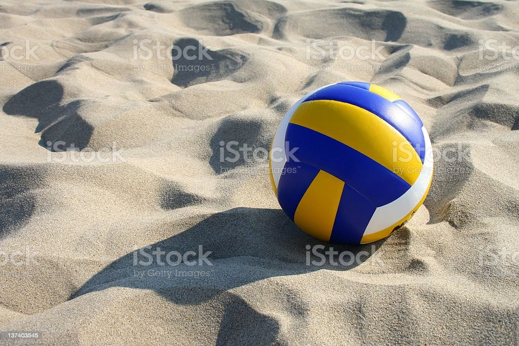 Volleyball in sand royalty-free stock photo