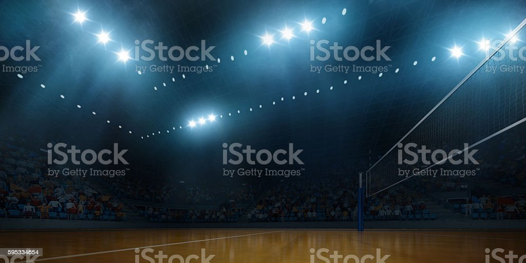 Volleyball indoor stadium stock photo