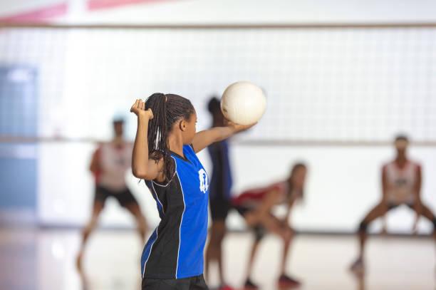 partido de voleibol - juego de vóleibol fotografías e imágenes de stock