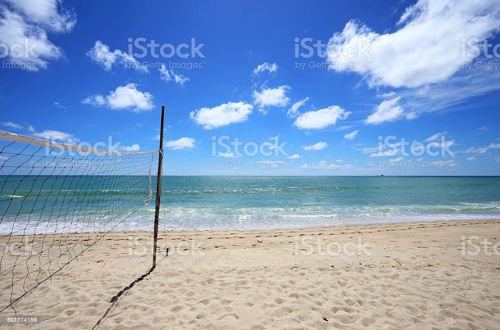 Volleyball net at the beach, sports concepts royalty-free stock photo