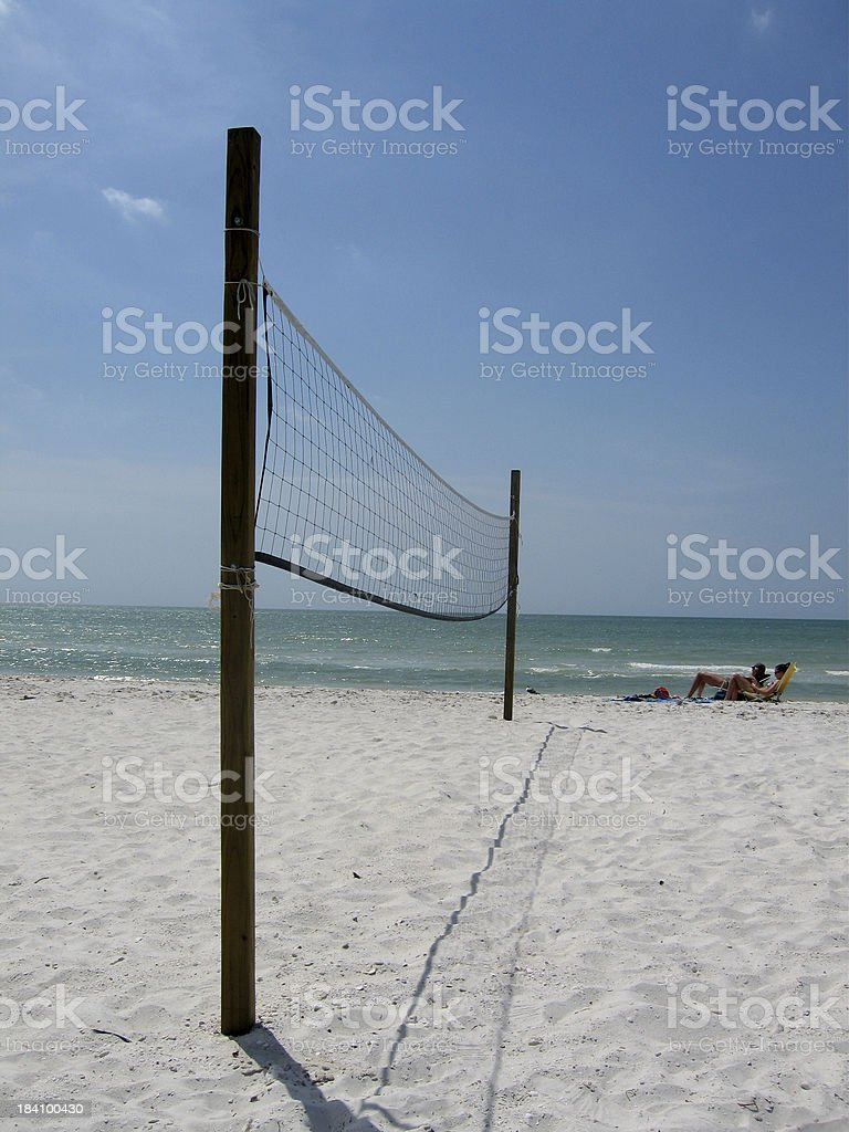 Volleyball Net On The Beach royalty-free stock photo