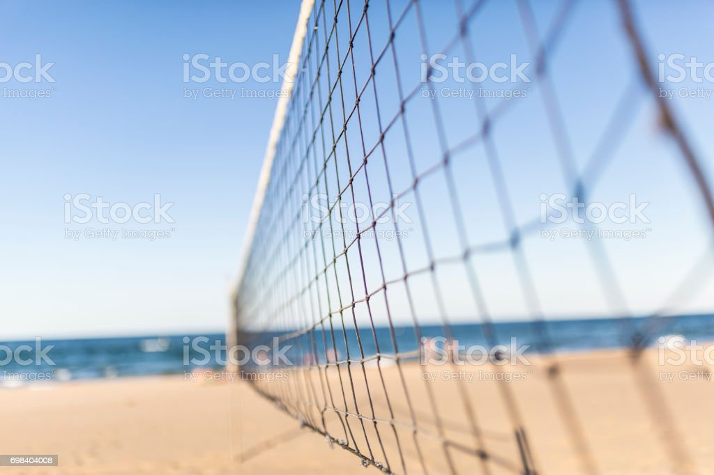 Filet de volley sur la plage - Photo