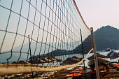 Volleyball netting on the beach