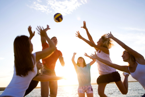 Volleyball On The Beach Stock Photo - Download Image Now
