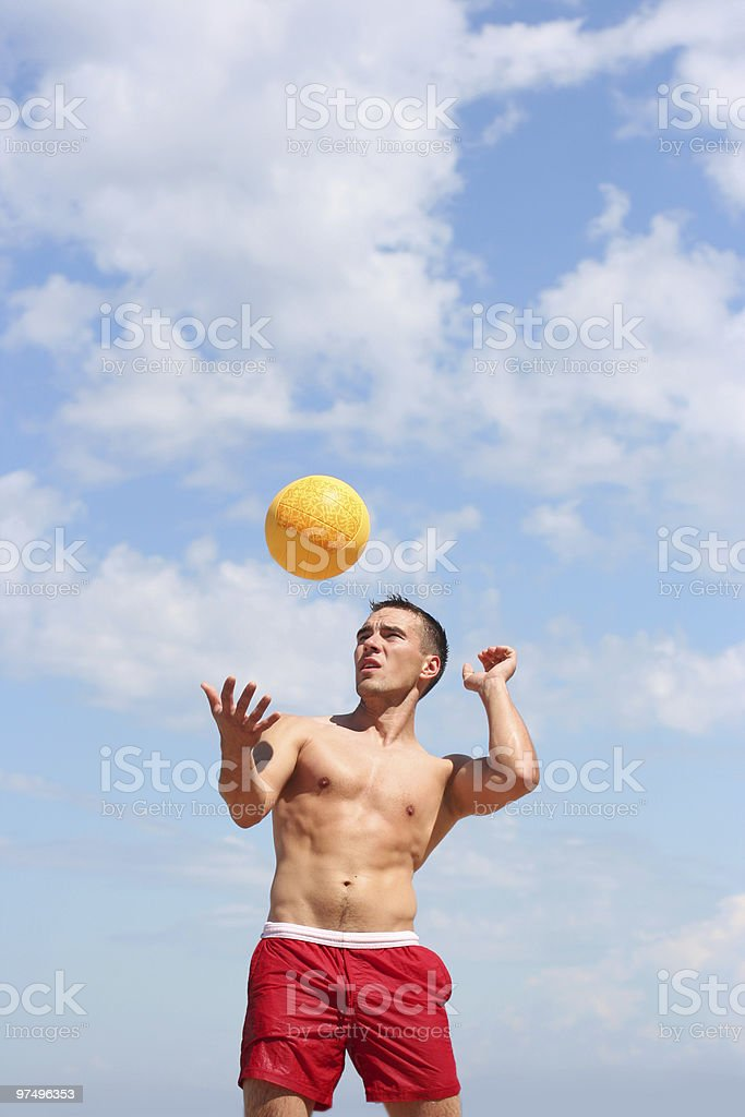 volley-ball on the beach royalty-free stock photo