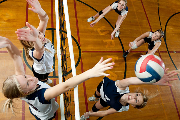 volleyball - volleyball sport stock photos and pictures