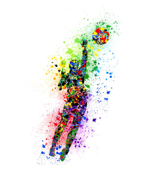 volleyball - abstract logo stock photos and pictures