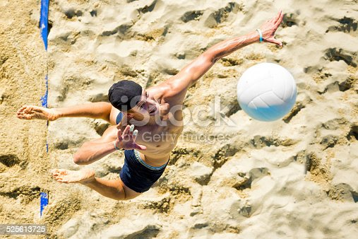 istock Volleyball player at service 525613725