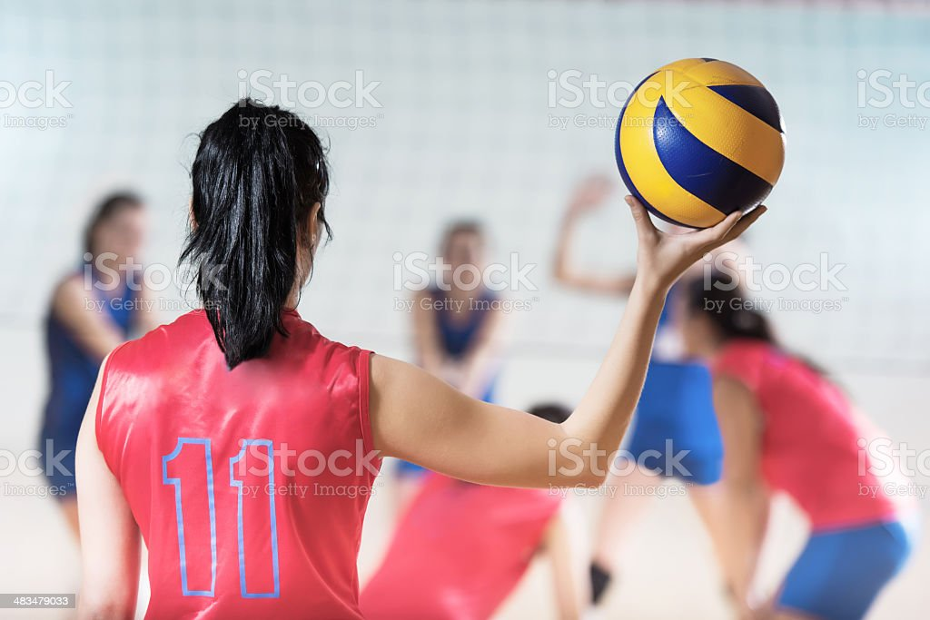 Volleyball player with a ball. royalty-free stock photo