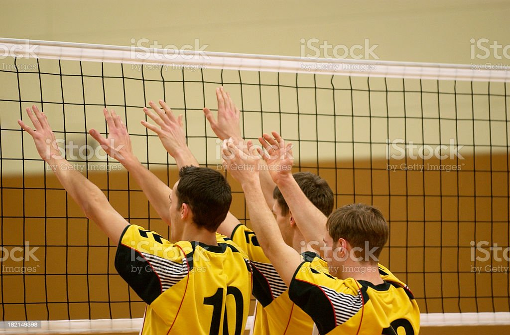 volleyball players royalty-free stock photo