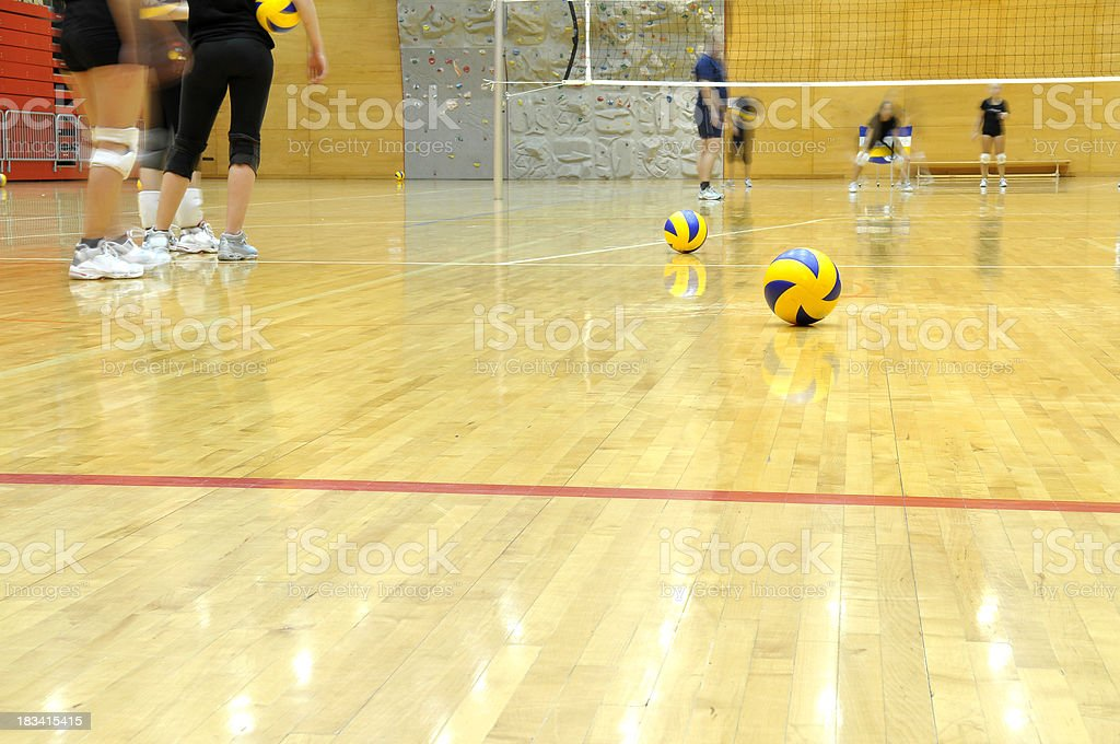 Volleyball Players Training royalty-free stock photo