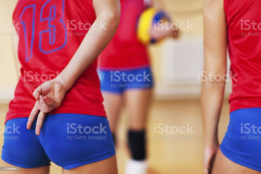 Volleyball strategy. royalty-free stock photo