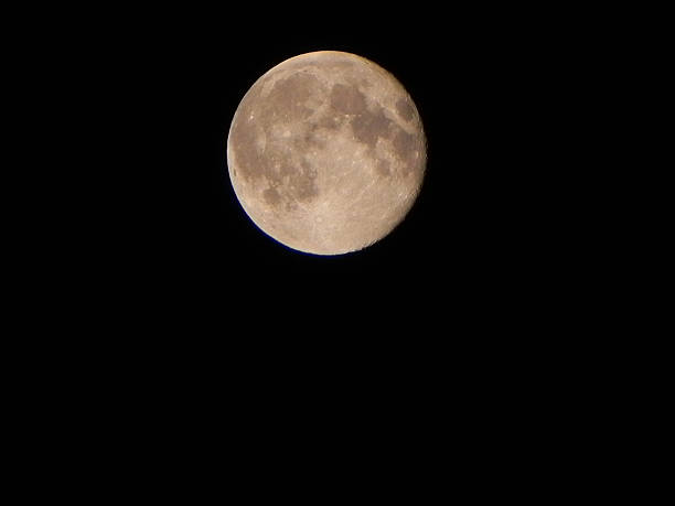 Vollmond am Nachthimmel stock photo