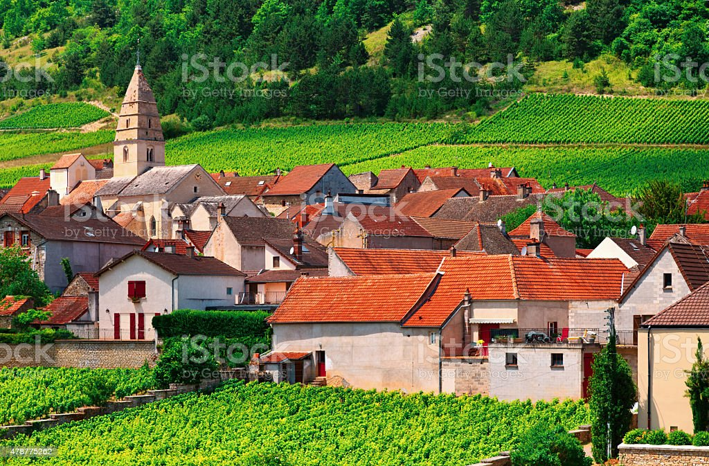Volnay, small village near Beaune, Burgundy, France stock photo