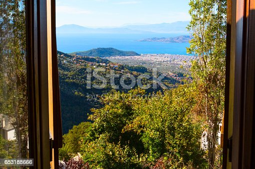 683524718 istock photo Volos city view from Pelion mount, Greece 653188666