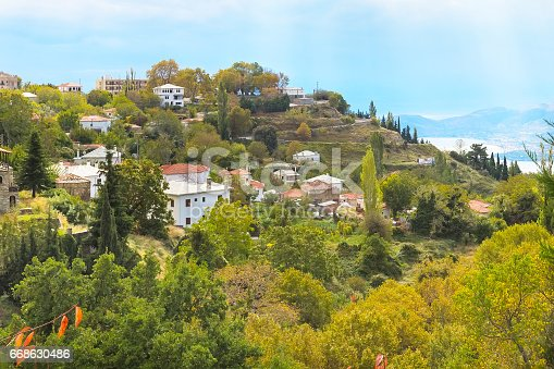 istock Volos city view from Pelion mount, Greece 668630486