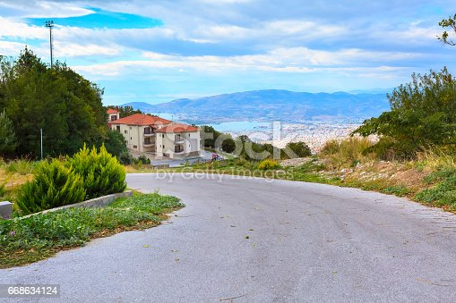 istock Volos city view from Pelion mount, Greece 668634124