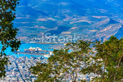 683524718 istock photo Volos city view from Pelion mount, Greece 671594364