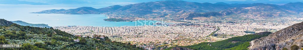 683524718 istock photo Volos city view from Pelion mount, Greece 683524718