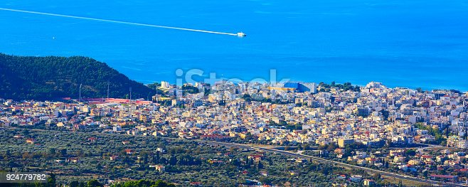 683524718 istock photo Volos city view from Pelion mount, Greece 924779782