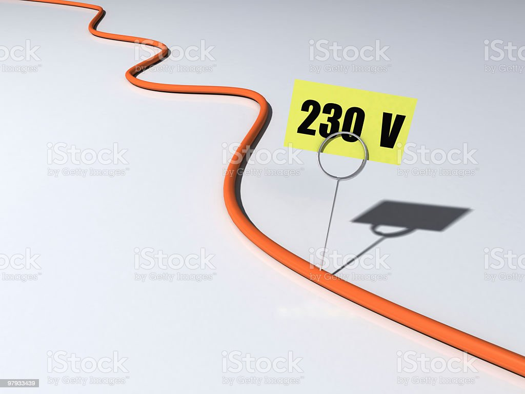 Voltage cable royalty-free stock photo