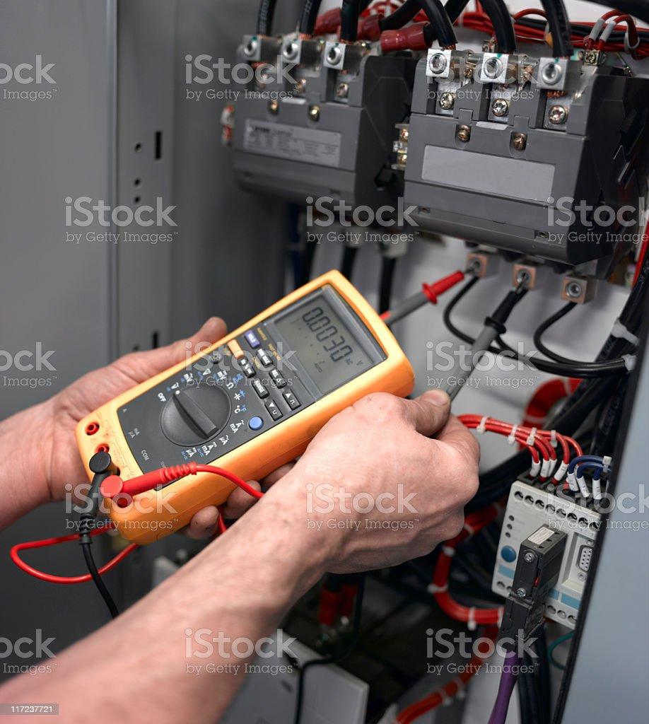 Voltage Test stock photo