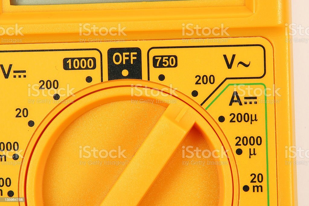 AC Voltage Tests Close royalty-free stock photo